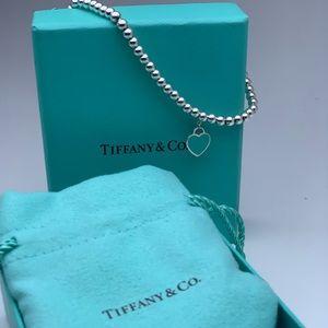 Tiffany & Co. Jewelry - Tiffany & Co.  blue heart tag dainty bead bracelet